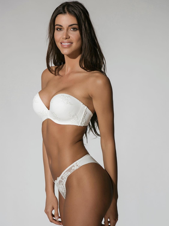 852ba432e67 ... Brazilian slip Luna Prestige Honeymoon - Ιβουάρ - Δαντέλα & Κέντημα ...