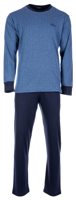 Ανδρική πυτζάμα Pink Label - Μπλε - Ψαροκόκκαλο - Μπλε Παντελόνι