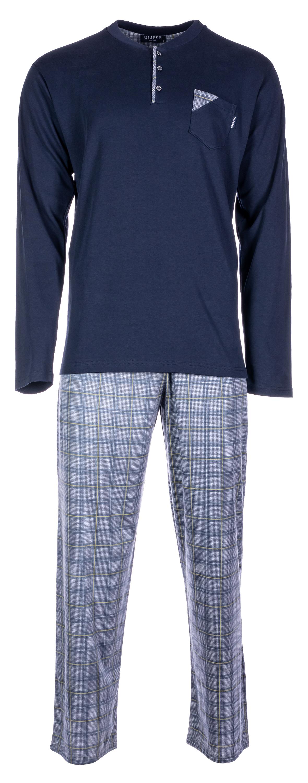 Ανδρική πυτζάμα Pink Label - Μπλε - καρό παντελόνι