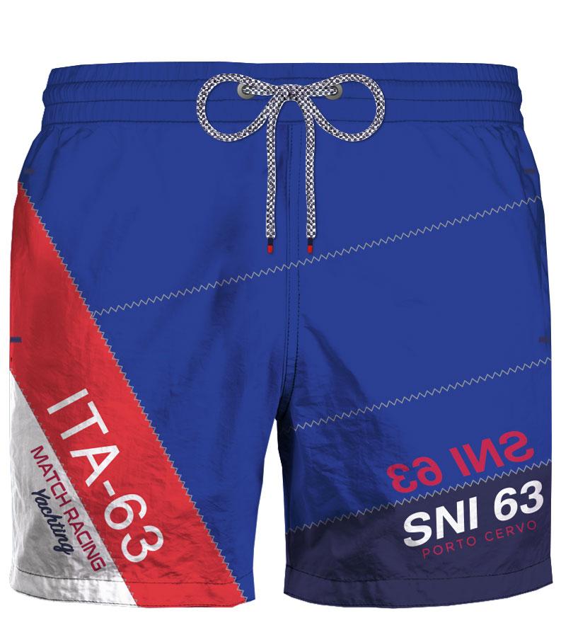 Ανδρικό Μαγιό Nautica Italiana - Μπλε Shorts - Σχέδιο με λογότυπο