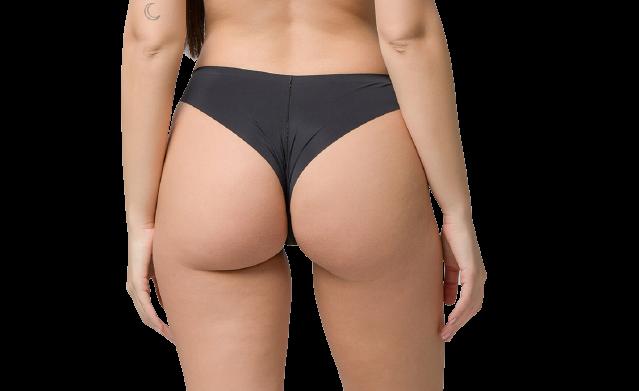 Brazilian slip Luna Every Wear - Μαύρο laser-cut - Χωρίς ραφές