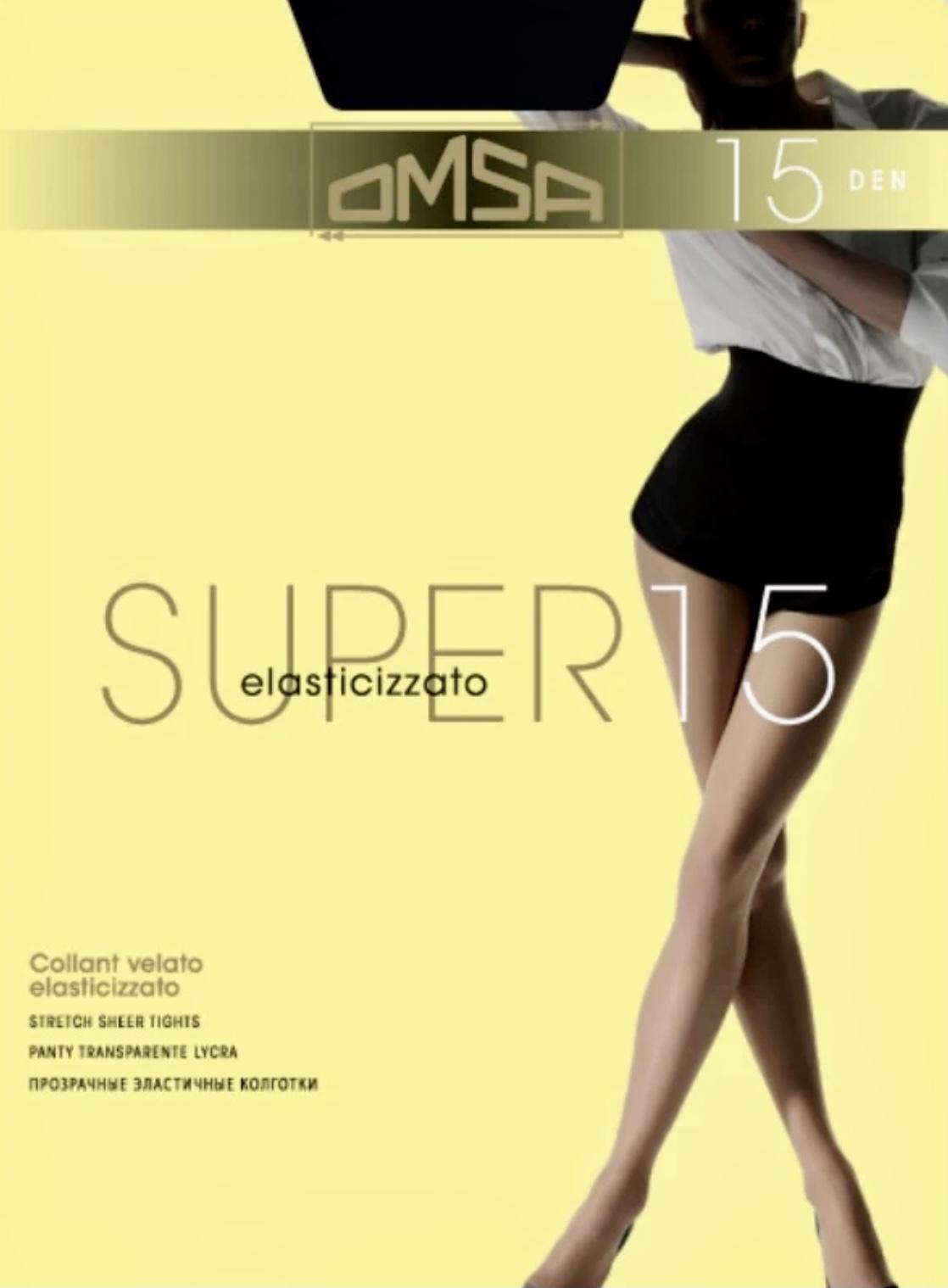 Καλσόν Omsa Super 15D - Μαύρο - Καθημερινή Χρήση