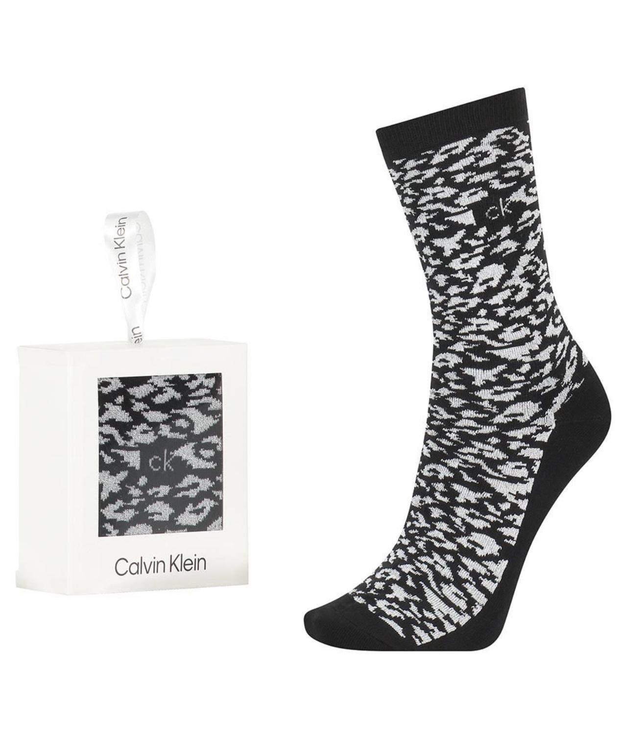 Γυναικεία Κάλτσα  Calvin Klein - Συσκευασία Δώρου - Ασπρόμαυρη - One Size