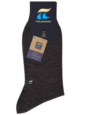 Ανδρική κάλτσα Πουρνάρα - Μάλλινη - Μονόχρωμη