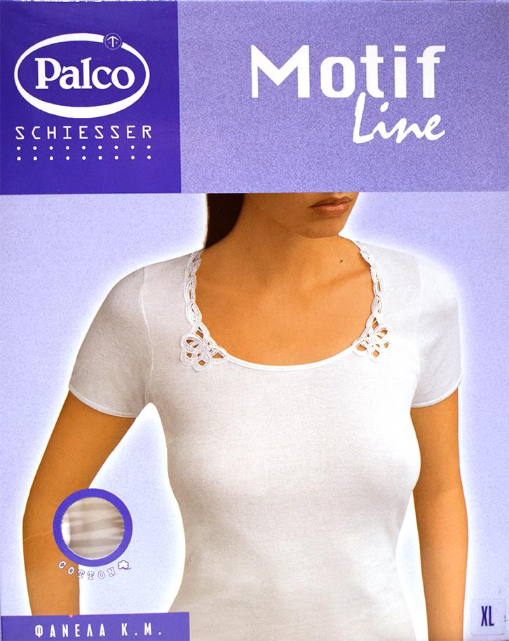 Γυναικείο φανελάκι Palco Motif Line - Κοντομάνικο Top βαμβακερό