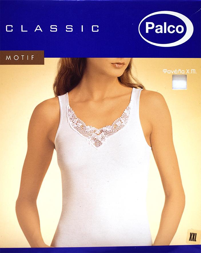 Γυναικείο φανελάκι Palco Classic Motif - Top βαμβακερό με φαρδιά τιράντα