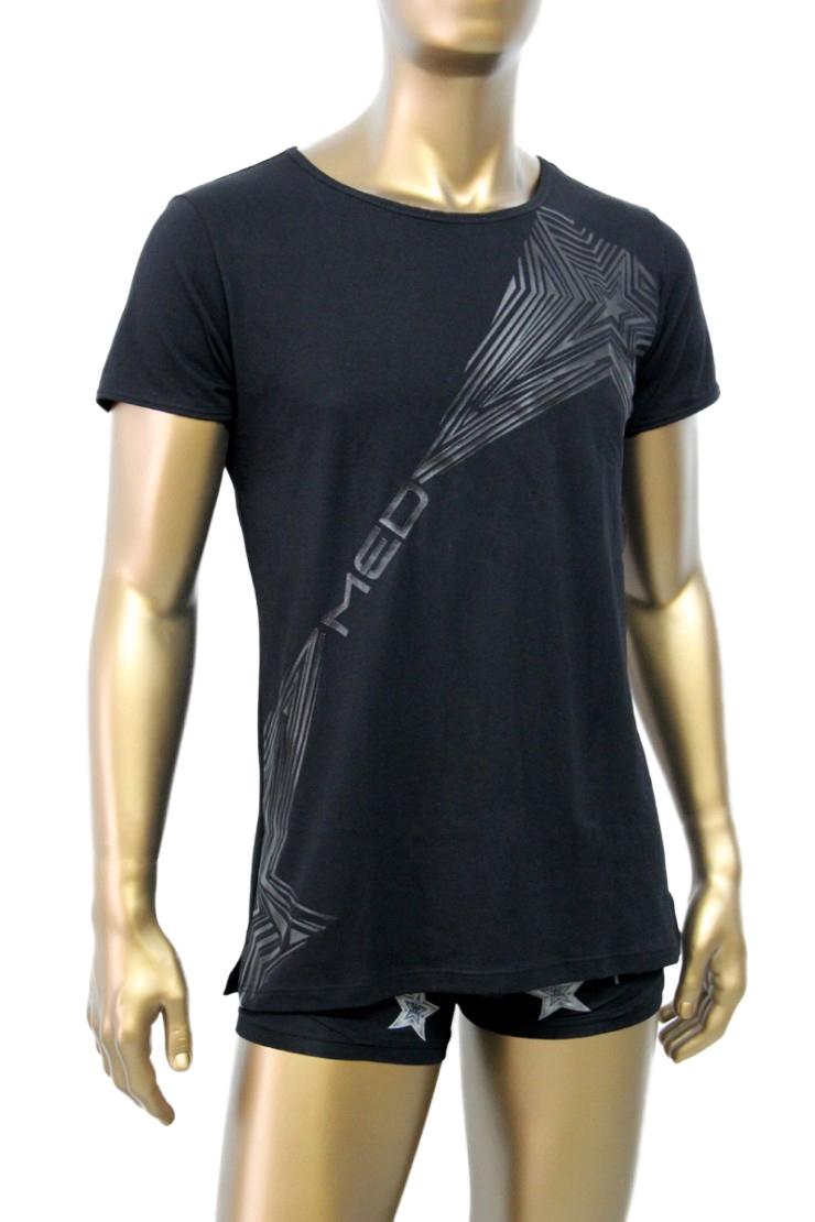 b0db74d396e4 Ανδρική μπλούζα MED Pit - T-Shirt μαύρο με τύπωμα - Κοντό μανίκι ...