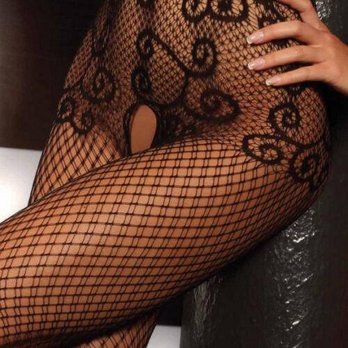 Ολόσωμο καλσόν Livia Corsetti Saraid - Μαύρο δίχτυ με tribal σχέδια - Λεπτή τιράντα