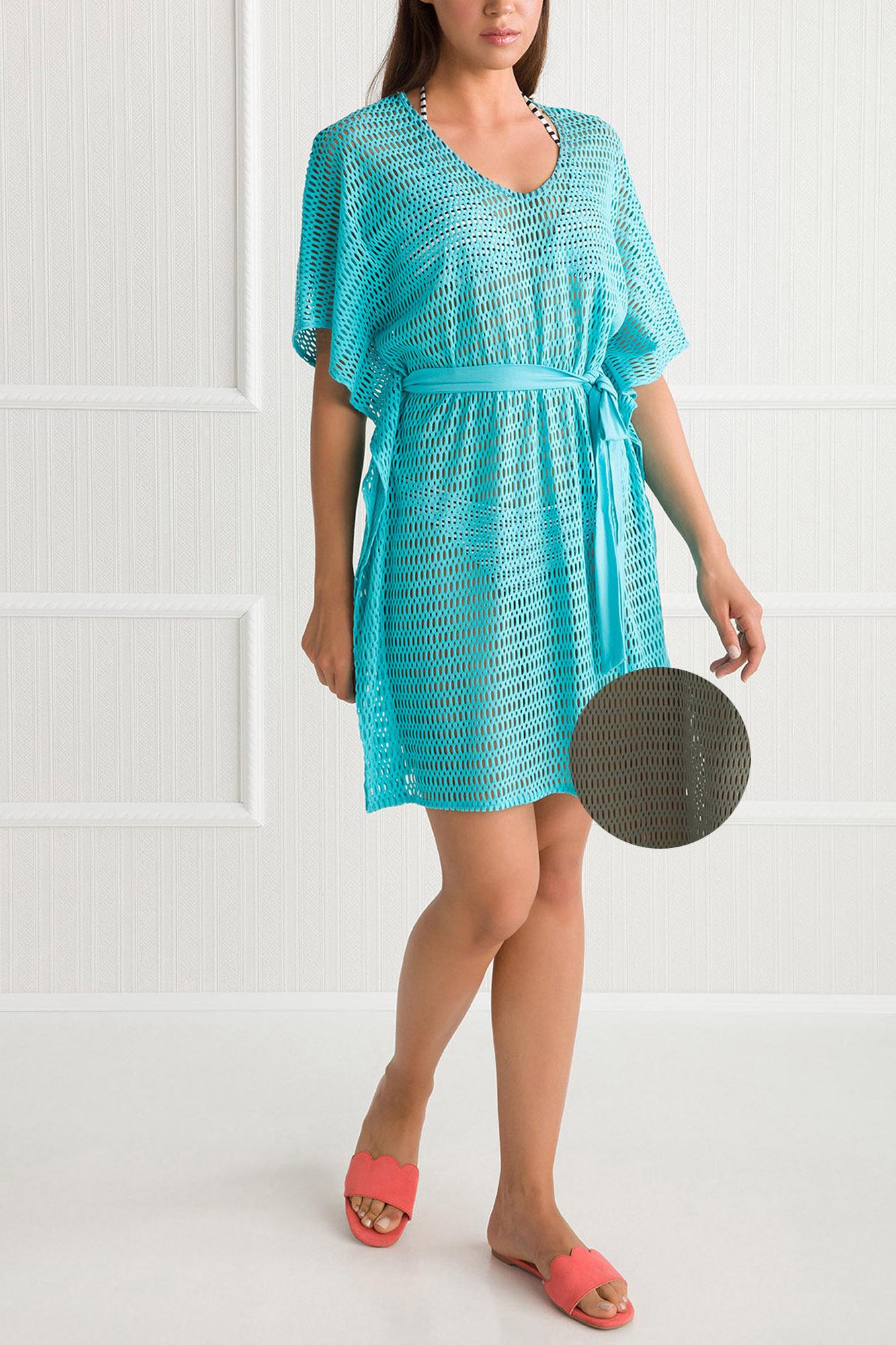 7a19d792abcc Γυναικείο Καφτάνι Vamp - Beachwear Λαδί - Ζακάρ 100% βαμβάκι ...