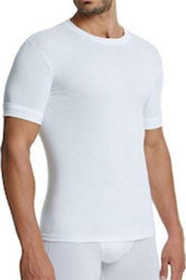 Ανδρική φανέλα Palco Basic - Λευκή Βαμβακερή - Ελαστική με κοντό μανίκι