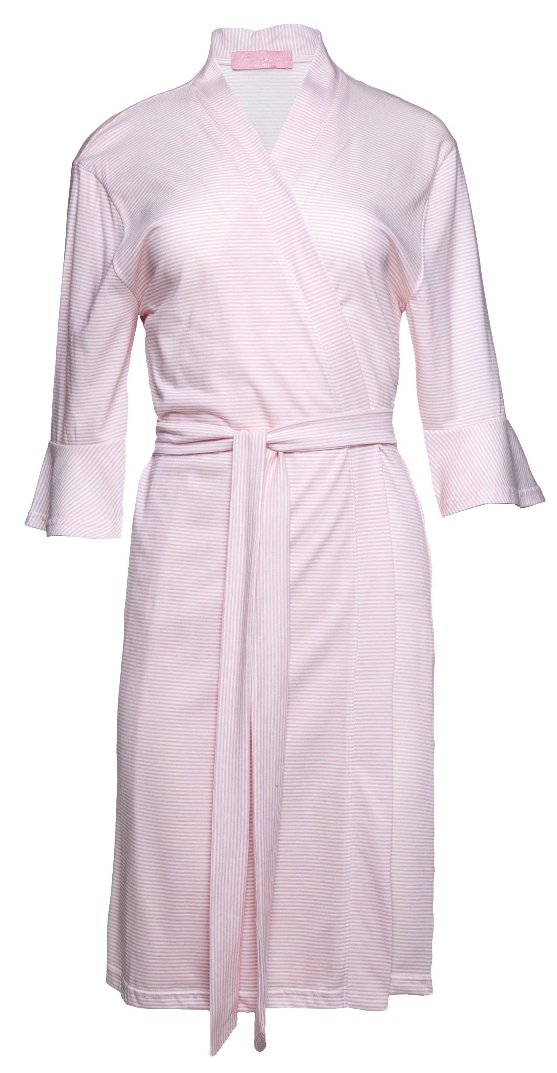 Γυναικείο Ρομπάκι Pink Label - Cotton - Ριγέ - Κοντό Μανίκι - Εγκυμοσύνη