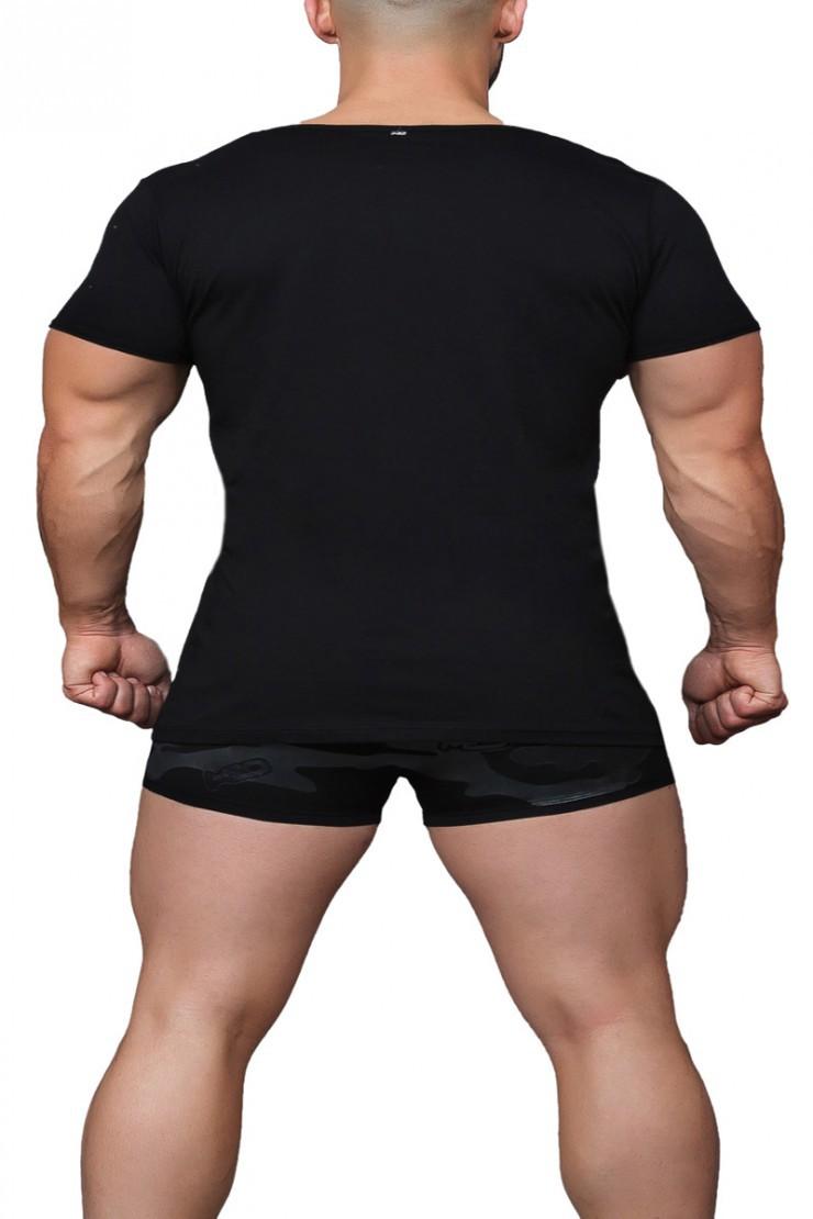 Ανδρική μπλούζα MED Jason - T-Shirt μαύρο με τύπωμα - Κοντό μανίκι