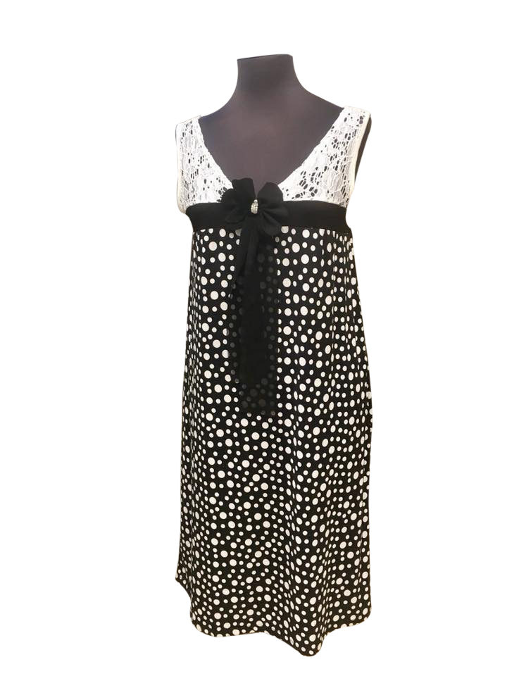 4635dbaf7b8 Φόρεμα Claire Katrania - Homewear midi - Πουά - Δαντέλα
