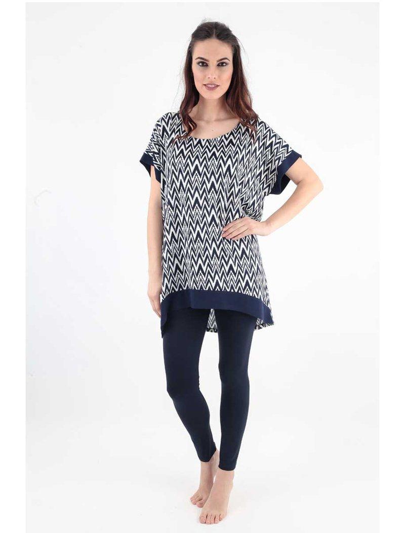 Γυναικείο Homewear Set Claire Katrania - Μπλούζα Κολάν - Navy