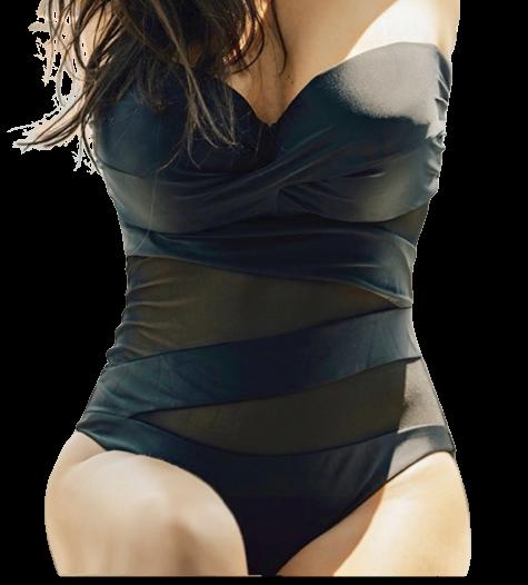 Γυναικείο μαγιό ολόσωμο Alice - Διαφάνεια - Μαύρο Cup D - Μεγάλα Μεγέθη