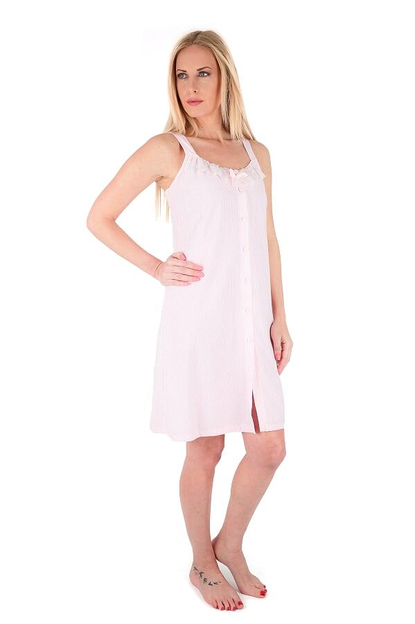 Γυναικείο νυχτικό Claire Katrania - Homewear Ροζ - Βαμβακερό