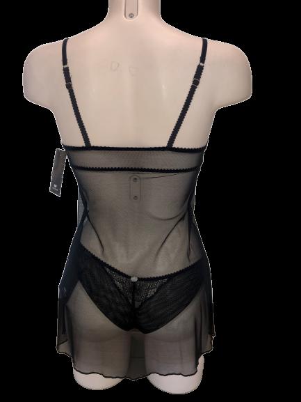 Γυναικείο Nεγκλιζέ Jolidon - Δαντέλα - Ελαστικό - Μαύρο