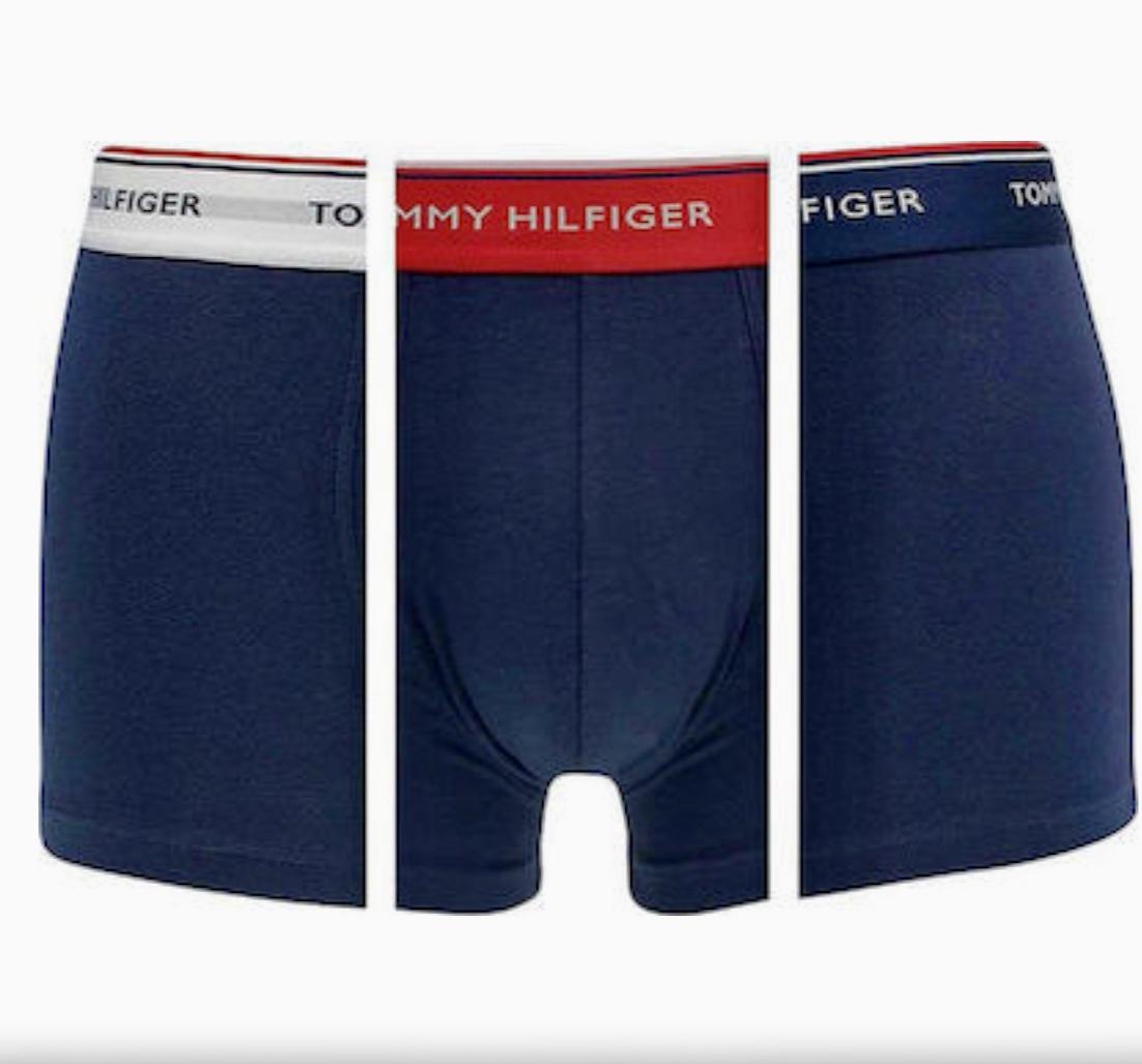 Ανδρικό boxer Tommy Hilfiger - Βαμβακερό Brief Μπλε - 3 pack