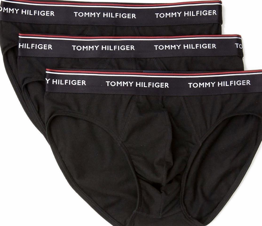 Ανδρικό Slip Tommy Hilfiger - Βαμβακερό Brief Μαύρο - 3 pack
