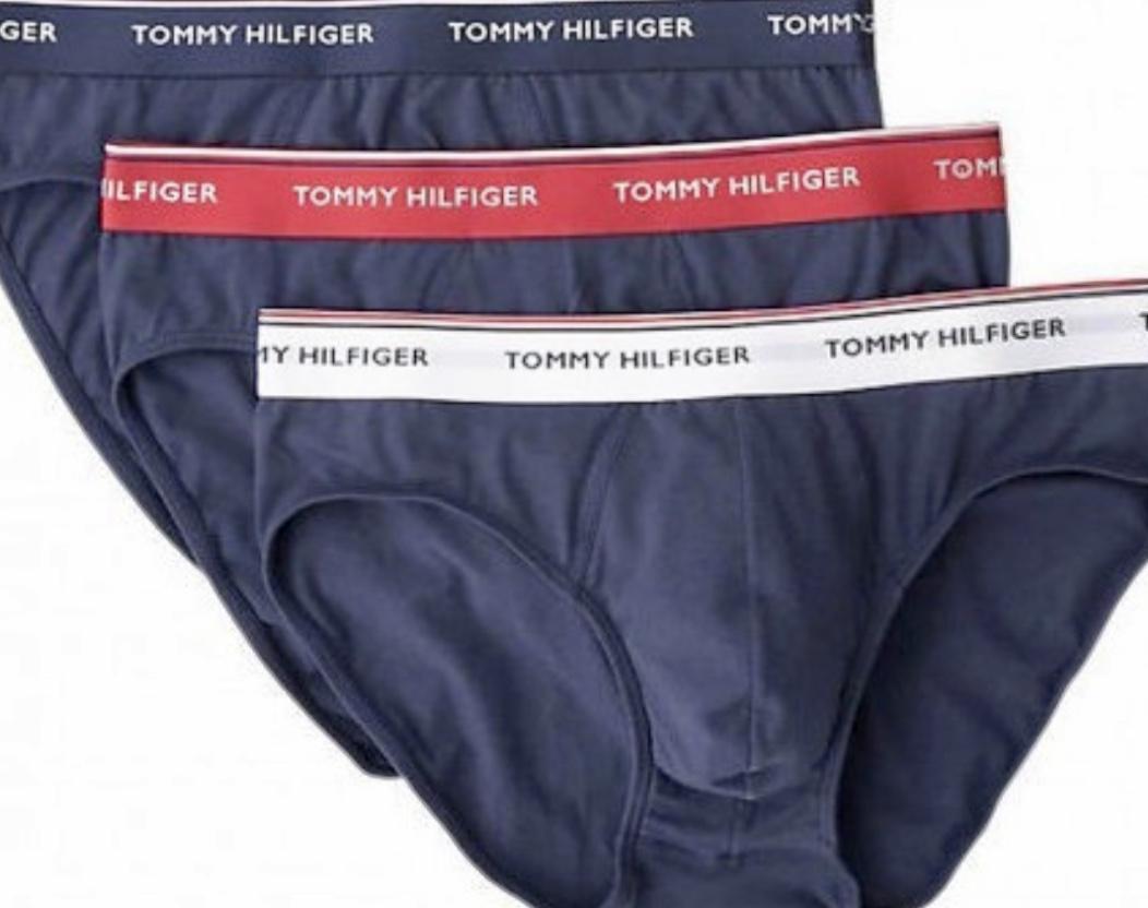 Ανδρικό Slip Tommy Hilfiger - Βαμβακερό Brief Μπλε - 3 pack