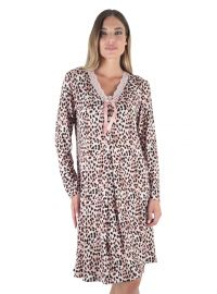 Σετ ρόμπα & νυχτικό Claire Katrania - Animal print Homewear set - Viscose